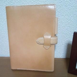 【ハンドメイド品】ヌメ革の手帳(ノート)カバーB6(ブックカバー)