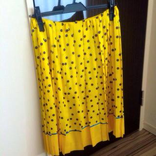 ルシェルブルー(LE CIEL BLEU)のルシェル♡ドットスカート(ひざ丈スカート)