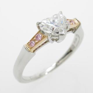 ハリーウィンストン ダイヤモンドリング 0.77ct・E・VVS1・ハートシェイ(リング(指輪))
