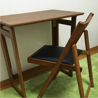 折りたたみ椅子と机 セット 美品(折たたみテーブル)