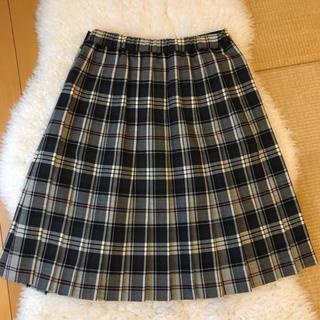 バーバリー(BURBERRY)の美品Burberryバーバリー上質ウールチェック柄プリーツスカート♫(ひざ丈スカート)