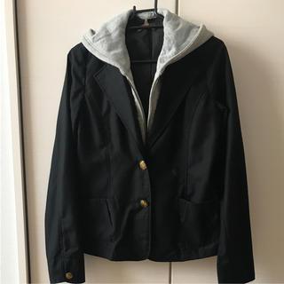 アクアネーム(AquaName)のフード付きジャケット(テーラードジャケット)