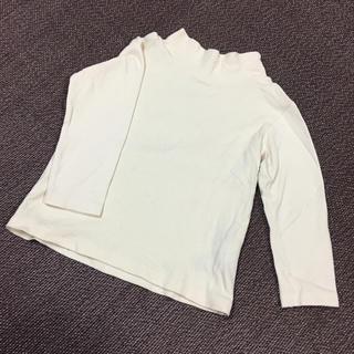 ムジルシリョウヒン(MUJI (無印良品))の無印良品 100cm ハイネック 長袖シャツ 白色(Tシャツ/カットソー)
