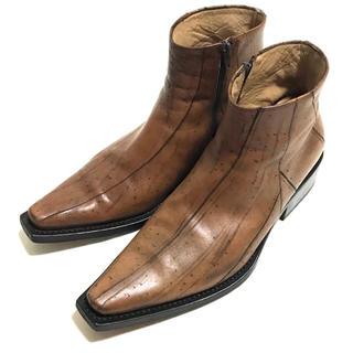 ジャンニバルバート(GINNNI BARBATO)の定15万美品 ジャンニバルバート レザーサイドゴアブーツ42(ブーツ)
