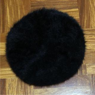 シマムラ(しまむら)のファー ベレー帽 黒(ハンチング/ベレー帽)