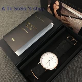 ダニエルウェリントン(Daniel Wellington)の期間限定お値下げ中☆DW  40MM CORNWALL ナイロン ブラック(腕時計(アナログ))