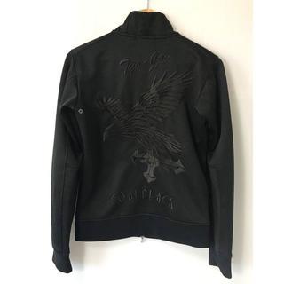 コールブラック(COALBLACK)の【H】コールブラック 刺繍 鷹 クロス トラックジャケット ブラック S(ジャージ)