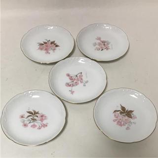 オオクラトウエン(大倉陶園)の大倉陶園 オークラ チャイナ 小皿 5枚 桜 美品(食器)