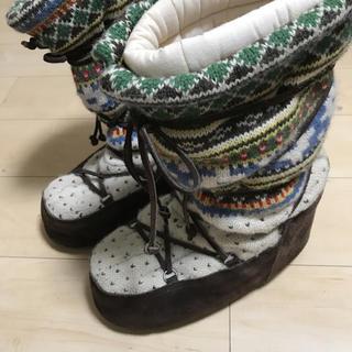 ジュンヤワタナベ(JUNYA WATANABE)のジュンヤワタナベマン エスキモーニットブーツ(ブーツ)