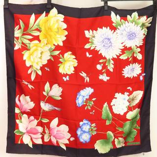 ティファニー(Tiffany & Co.)のティファニー スカーフ 花柄 87cm(バンダナ/スカーフ)