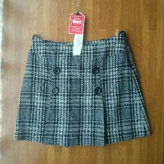 シェロー(chereaux)のchereaux ウール100 ツイードスカート(ミニスカート)