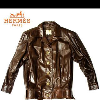 エルメス(Hermes)のエルメス メンズ ジャケット 皮(レザージャケット)
