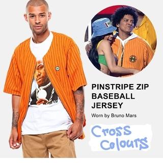 クロスカラーズ(CROSS COLOURS)のクロスカラーズ ベースボールシャツ オレンジ M(シャツ)
