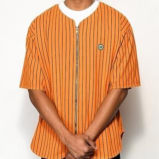 クロスカラーズ(CROSS COLOURS)のクロスカラーズ ベースボールシャツ オレンジL(シャツ)