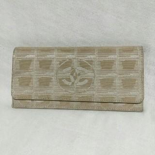 シャネル(CHANEL)のCHANEL トラベルライン ベージュ 長財布(財布)