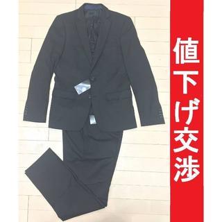 ザラ(ZARA)の[正規品]ZARAザラ 2Bスーツ ストレッチ黒 46(セットアップ)