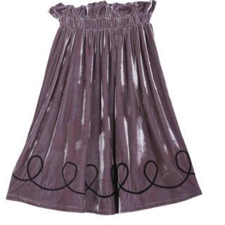 メリージェニー(merry jenny)のメリージェニー♡くるくるベロアミモレスカート(ひざ丈スカート)