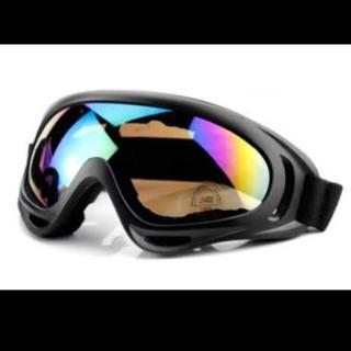 スキー スノボー ゴーグル マルチグラス ◆ブラック レインボー 2タイプあり(ウエア/装備)