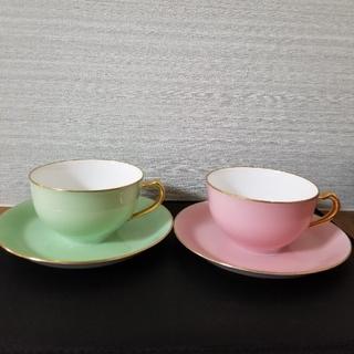 オオクラトウエン(大倉陶園)の大倉陶園 色蒔きカップ&ソーサー ペア(グラス/カップ)