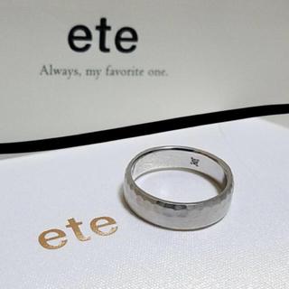 エテ(ete)の高島屋内 ete購入【ete】SV925 PTcoatingリング 13号 エテ(リング(指輪))