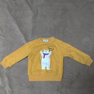 シューラルー(SHOO・LA・RUE)のキッズトレーナー 黄色 くま 裏起毛 サイズ90 シューラルー(Tシャツ/カットソー)