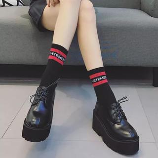 厚底 パンプス 革靴 オペラ靴 ブーツ ブーティ インポート 韓国 (ローファー/革靴)
