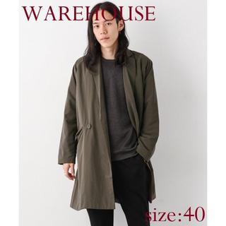 ウエアハウス(WAREHOUSE)の【新品】WAREHOUSE オーバーサイズラップコート 定価14,040円(その他)