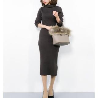 シマムラ(しまむら)の値下げ!即完売♥ハイネックニット スカート セットアップ ブラウン(セット/コーデ)