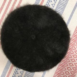レディース 茶色 ブラウン ファー ベレー帽(ハンチング/ベレー帽)