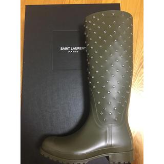 サンローラン(Saint Laurent)の新品未使用 箱付き サンローランレインシューズ(レインブーツ/長靴)