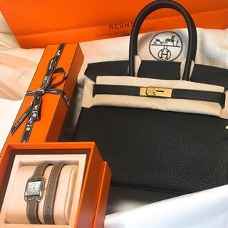 エルメス(Hermes)のバーキン30 黒 トゴ革 ゴールド金具(ハンドバッグ)