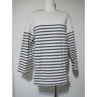 ムジルシリョウヒン(MUJI (無印良品))の無印良品サイズMボーダートップス♭3188(Tシャツ/カットソー(七分/長袖))