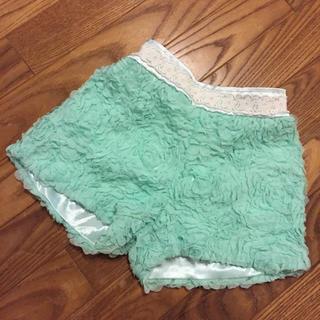 アンバー(Amber)のmerry Kate 韓国子供服 フラワーフリルパンツ 120 XL(パンツ/スパッツ)