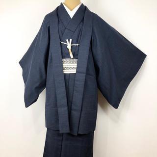 i-105 男物 アンサンブル 羽織紐付き ウール(その他)