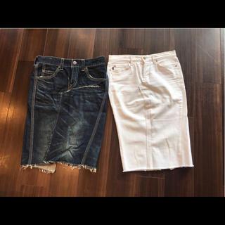 アールジーン(Earl Jean)のアールジーン リーバイス デニムスカート 25 9 11 セーター トップス(デニム/ジーンズ)