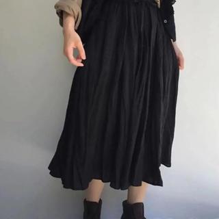 ネストローブ(nest Robe)のnestRobe  リネン泥染めギャザースカート(ロングスカート)