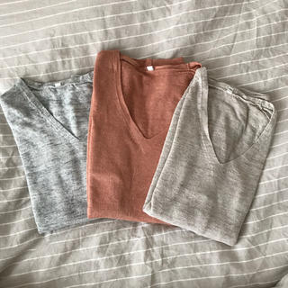 ムジルシリョウヒン(MUJI (無印良品))のMUJI 麻ニット 三枚セット(ニット/セーター)