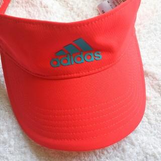 アディダス(adidas)の春。春。春。アディダス  adidas   サンバイザー  未使用  テニス  (ウェア)
