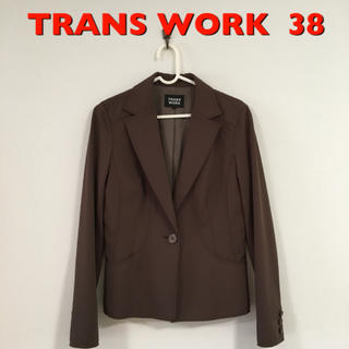 TRANS WORK   美ライン きれいめ ジャケット 38 ブラウン