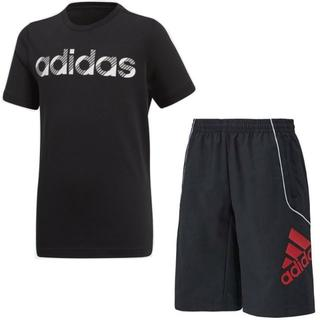 アディダス(adidas)のadidasキッズ120新品タッサーハーフパンツ トレーニングTシャツ2枚セット(パンツ/スパッツ)