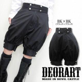 ディオラート(Deorart)のDeorart 王子バルーンパンツ ブラック(ショートパンツ)