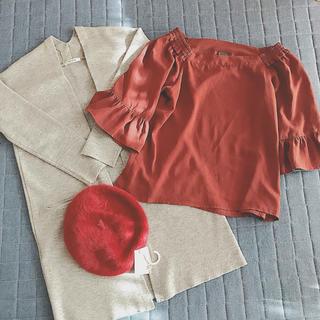 シマムラ(しまむら)のしまむら  ベレー帽 ブラウス カーディガン 3点セット エンフォルド風 (セット/コーデ)