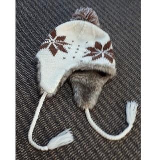 アクリルニット帽 フェイクファー(ニット帽/ビーニー)