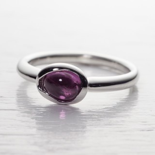 ピンクトルマリン カボション プラチナ900 リング 指輪(リング(指輪))