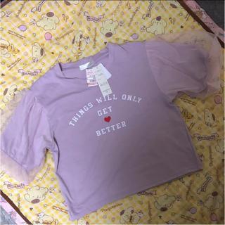 シマムラ(しまむら)の半袖 パフ Tシャツ(Tシャツ(半袖/袖なし))