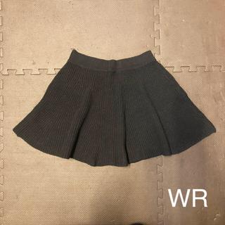 ダブルアール(WR)のニットスカート 黒 Mサイズ(ミニスカート)