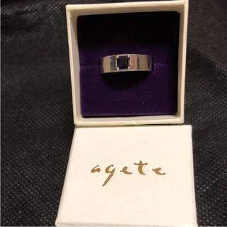 アガット(agete)のagete アガット 石入りシルバーリング 未使用(リング(指輪))