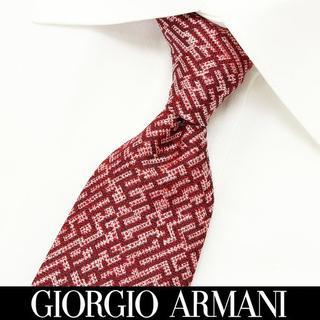 ジョルジオアルマーニ(Giorgio Armani)の168 GIORGIO ARMANI レッド系 シルク ネクタイ(ネクタイ)