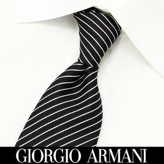 ジョルジオアルマーニ(Giorgio Armani)の166 GIORGIO ARMANI ブラック シルク ネクタイ(ネクタイ)
