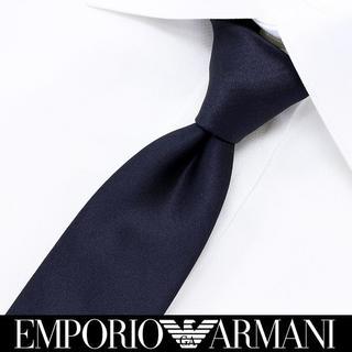 エンポリオアルマーニ(Emporio Armani)の164 EMPORIO ARMANI ネイビー シルク ネクタイ(ネクタイ)